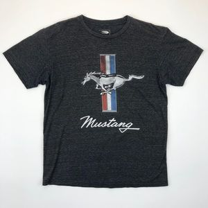 Ford Women's Mustang T-Shirt Heather Grey Size L